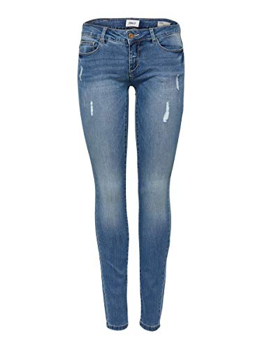 ONLY Damen Skinny Fit Jeans ONLCoral sl sk 2530Medium Blue Denim