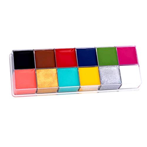 Youlin 12 en 1 Flash Visage Corps Peinture Huile Art Maquillage Halloween Déguisements Party Palette