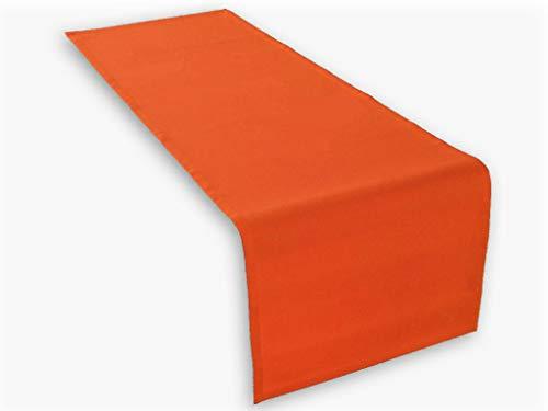 Hochwertiger Tischläufer aus Baumwolle. Tischtuch, Tischdecke. Große Auswahl an Farben. (Orange)