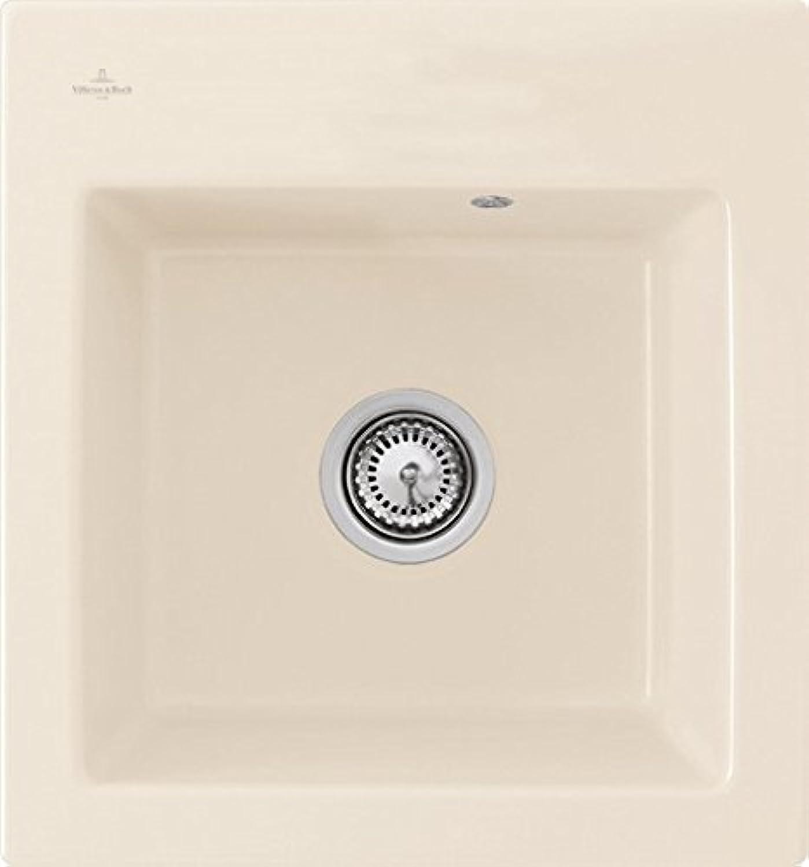 Villeroy & Boch Subway 45 XS flat flchenbündige Spüle Keramik   Crema Classicline   Stopfen