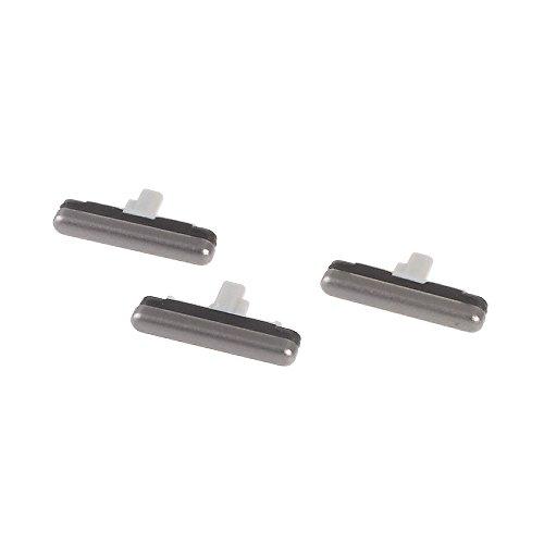 Kit de botones de repuesto (botones externos laterales), botón de encendido y apagado externo + botón de control de volumen + llave para Samsung Galaxy S7 SM-G930 G930 G930F (gris)