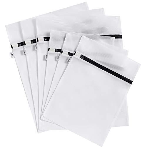 Eono by Amazon - 6 Set Wäschenetz für Waschmaschine, Dessous und Feinwäsche Wäschesack, Wäschebeutel aus Netzstoff Set mit Reißverschluss, ideal für Alle Arten von Kleidung, BHs, Schuhen