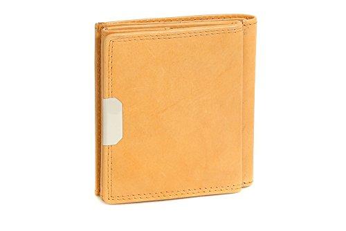LEAS Wiener-Schachtel mit großer Kleingeldschütte, Echt-Leder, beige Special Edition