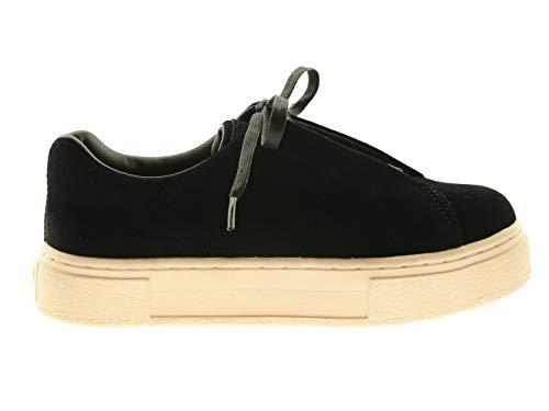 Eytys Damen Schuhe Sneakers Turnschuhe Sportschuhe Schnürer Schwarz Leder, Größe:37