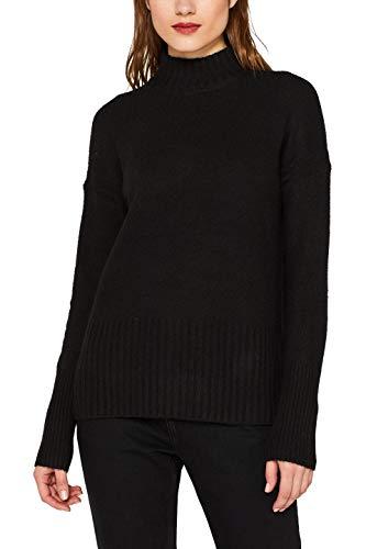 ESPRIT Damen 099EE1I030 Pullover, Schwarz (Black 001), Small (Herstellergröße: S)
