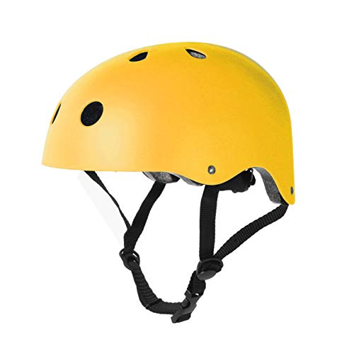 Tourdarson Adult Skateboard Helmet Specialized Certified Protection for Multi-Sports Cycling Skateboarding Scooter Roller Skate Inline Skating Rollerblading Longboard (Yellow, Large)
