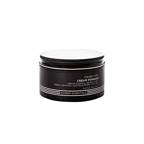 Redken Brews Cream Pomade For Men, Medium Hold, Natural Finish 3.4 oz