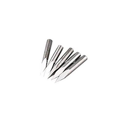 SMO 5x 20 ° Degré haute Qualité routeur CNC acier carbure Pyramid Bits de gravure