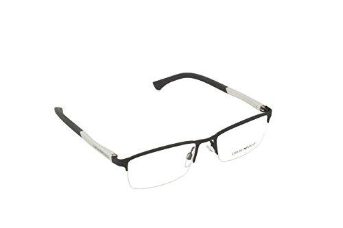 Emporio Armani 3094 Monturas de gafas, Black Rubber, 55 para Hombre
