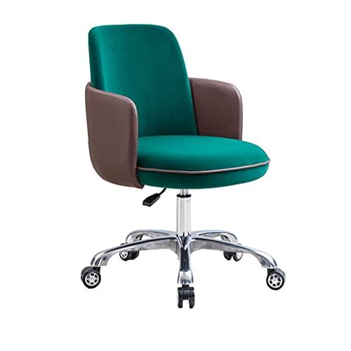ZANZAN Silla de Escritorio giratoria con Elevador ergonómico, Silla de Oficina para computadora con reposabrazos, sillas de Trabajo con Respaldo (Color : Green)