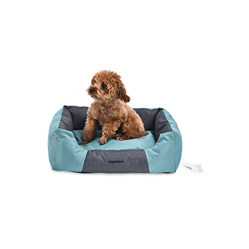 Amazon Basics Water-Resistant Pet Bed - Rectangular, Teal, 17.7-Inch