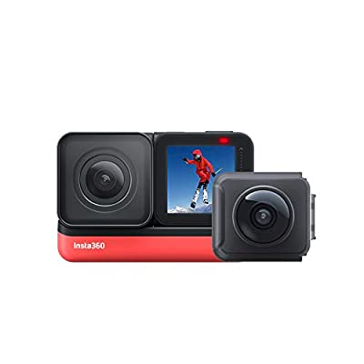 Insta360 ONE R Twin Edition – Action Camera & 360 Camera with Interchangeable Lenses, Stabilization, IPX8 Waterproof, Touch Screen, AI Editing by Insta360