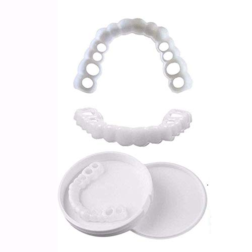 KUASD Sourire Parfait Haut Et Bas Dentier Esthetique Amovible Instant Smile Comfort Kit Faux Dent Accolades De Simulation pour Dents Cosmétiques Perfect Smile