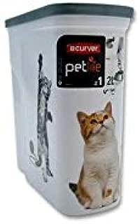 【Curver Pet Life Style】カーバーペットライフ キャットフードストッカー キャットフードコンテナCAT 2L 1kg