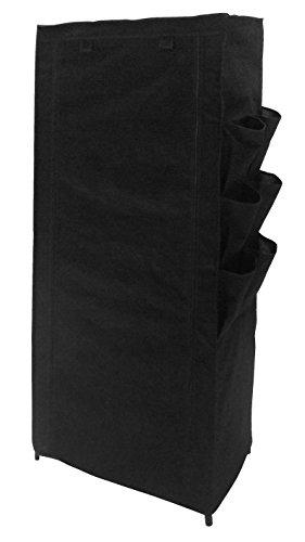 Ablage Schuhablage Schuhschrank 6 Ablagen 6 Seitentaschen 1 Aufbewahhrungsbox 150 x 60 x 30 cm FARBE SCHWARZ Schuhregal Schuhkommode Vliesstoff eco-friendly