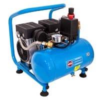 AIRPRESS Druckluft Kompressor | L 6-95 Silent | 8 Bar | 6 Liter | 0,6 PS | 2 Zylinder | Profi