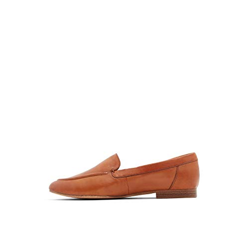 ALDO Women's Joeya Slip-On Loafer, Light Brown Smooth, 5
