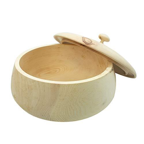 4betterdays.com NATURlich leben! Hochwertiger runder Brotkasten aus massivem Zirbenholz - Brotdose mit abnehmbarem Deckel - in verschiedenen Größen erhältlich 35x35x23 cm (LxBxH)