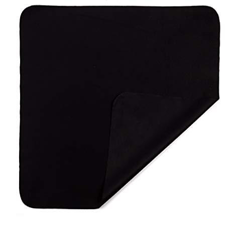 Xniral 10stk Brillenstoff Samt Handy Bildschirm Reinigungstuch 15 × 18cm(Schwarz)