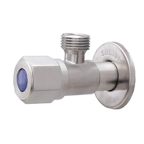 Válvula, Válvula de Agua ángulo de Acero Inoxidable Válvulas G1 / 2 Grifería de Extintor de Agua de retrete de Tubo Simple/Doble Salida válvulas de llenado (Color : A1)