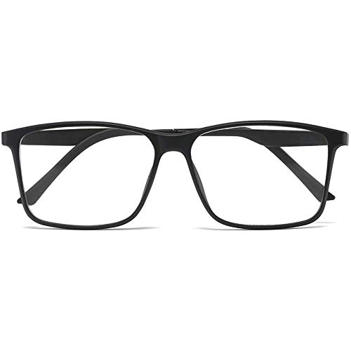 Lesebrille Anti-Blaulicht für Herren und Damen Blaulichtfilter Computer Lesehilfe Federscharnier Tr Brille(Schwarz,+1.5)