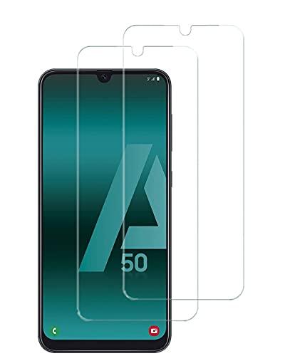UNO' Protector pantalla cristal templado 2 Unidades compatible con Samsung Galaxy A50 (SM-A505F),Vidrio Templado Ultra Resistent Sin Burbujas, 9H, Antiarañazos,Apto Para Samsung Galaxy A50 (SM-A505F).