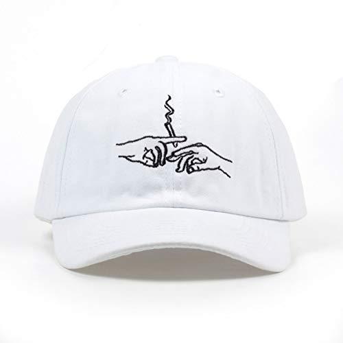 SALICEHB New Smoke Baseball Cap Papa Hut für Männer Frauen Stickerei Hände Rauchmuster Trucker Cap Weed Bone Golf Baseball Hut