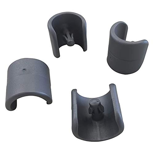 Lafuma Kit de 4 patins pour fauteuil relax et chaise longue, Diamètre: 20 mm, Couleur: Anthracite, LFM2843-1229