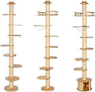 HONEYPOT CAT Solid Wood Cat Tree Cat Tower - 200817 - 3 Sizes (235cm-290cm) (Medium)