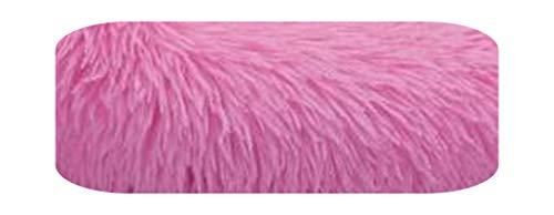 #N/D Cama para perro grande y pequeño gato de felpa, redonda, para sofá – rosa – 90 cm