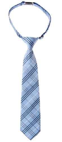 Retreez Jungen Gewebte vorgebundene Krawatte Tartan Plaid Karo Manier - blau - 4-7 Jahre