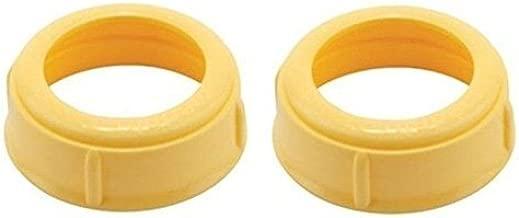 Medela Bottle Nipple Collars Rings New! For Slow or Medium Flow Wide Base (2 Collars)