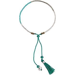 KELITCH Crystal Seed Beaded Bracelet Handmade Green Tassel Friendship Wrap Bracelets New