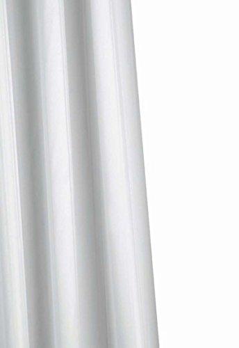 Croydex Textil-Duschvorhang, weiß