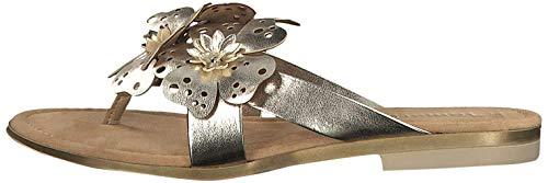 Tamaris 1-27159-32 Damen Zehentrenner Pantolette Clogs, 39 EU,  Gold