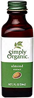 Simply Organic Almond Extract, Certified Organic | 2 oz | Pack of 12