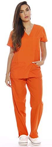 22250V-S Orange Just Love Women's Scrub Sets / Medical Scrubs / Nursing Scrubs,Orange,Small