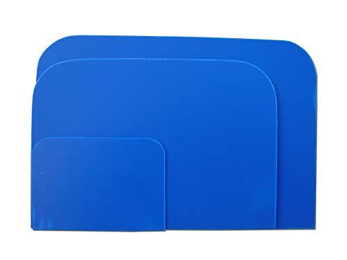 3er Spachtel Set STC Karosserie Spachtelsatz Glättspachtel in drei Größen Kunststoffspachtel Set 55 mm, 100 mm, 115 mm flexibel und säurefest