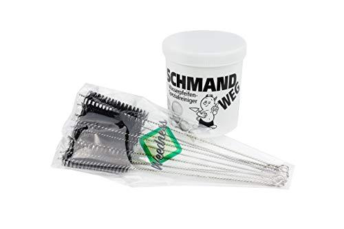 Weedness Bong-Reiniger-Set mit 10 Premium Pfeifenbürsten - Pfeifenreiniger Shisha Reinigungsset Wasserpfeifen Pfeifenputzer Reinigungsbürsten Schmand Weg