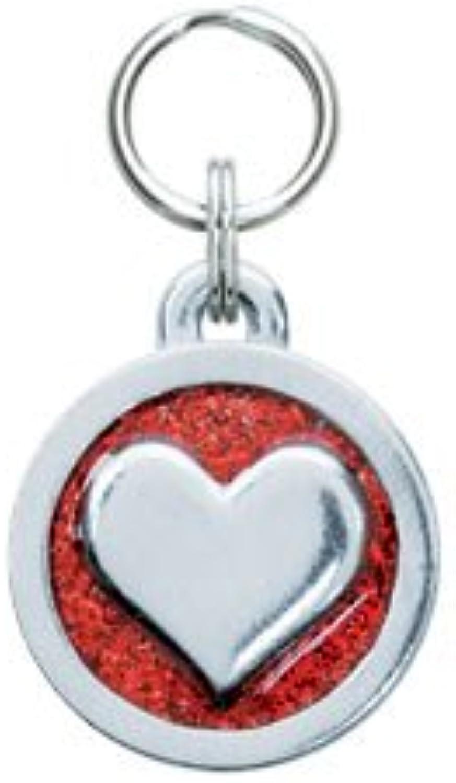 Circle Heart Tag Small  Engravable