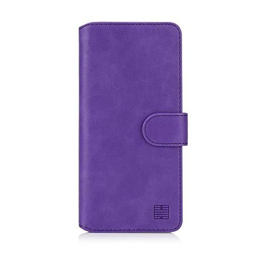 32nd Essential Series 2.0 - PU Leder Mappen Hülle Flip Hülle Cover für Samsung Galaxy A10 (2019), Ledertasche hüllen mit Magnetverschluss & Kartensteckplatz - Violett