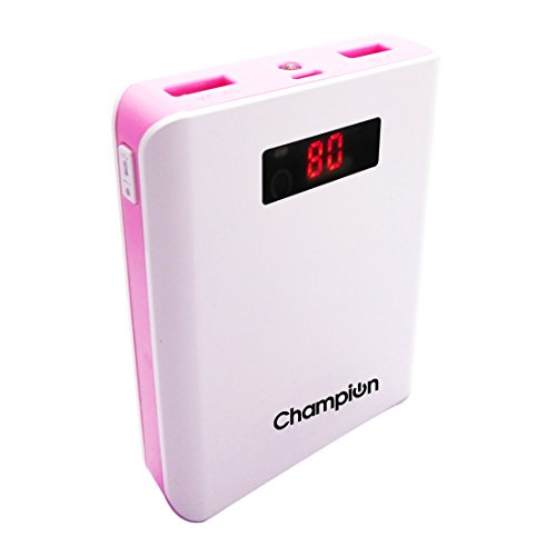 Champion Z-10 10400mAh Power Bank (White/Pink)