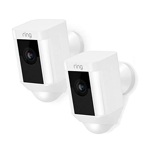 Ring Spotlight Cam bewakingscamera, IP-camera, voor buiten, 1920 x 1080 pixels, zwart/wit