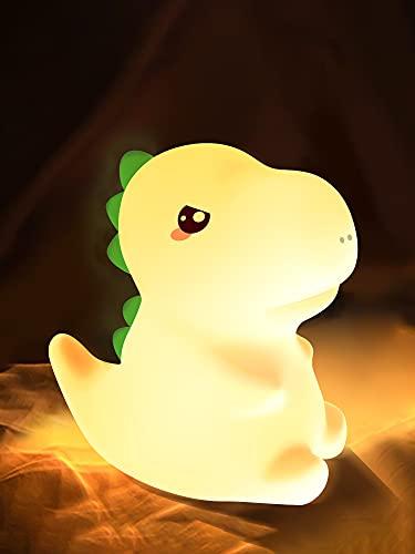 One Fire Dinosaur Kids Night Light for Kids Room,Kids Night light Bedroom Dinosaur Lamp Silicone...