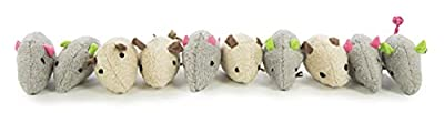 SmartyKat, Skitter Critters Value Pack, Soft Plush Cat Toys, Mouse Toy with String Tail, Catnip Filled, Pure, Potent, 10 Piece from Quaker Pet Group
