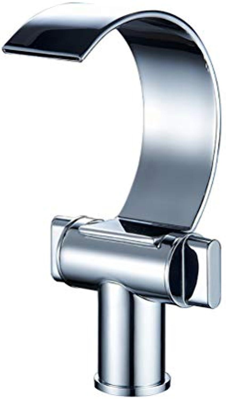 LUTAP Wasserhahn Modernen Minimalistischen Kupfer Badezimmer Doppelschalter Wasserfall Becken Einlochmontage Wasserhahn