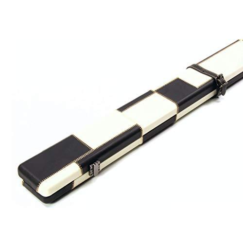 Funky Chalk 2 Black White Patchwork 1 Piece Snooker Pool Case-149cm Max Cue Length Koffer für Billardqueue, 149 cm, Schwarz/Weiß