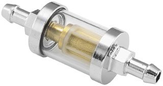 "Biker's Choice Clear-View Glass Fuel Filter (5/6"" I.D.)"
