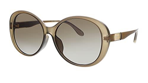 Gucci GG 0793S 002 - Gafas de sol redondas de plástico, color marrón
