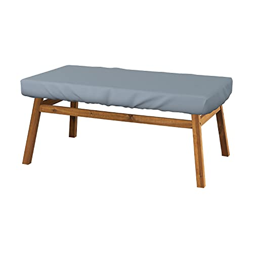 Rectangle Table Top Cover 18 Oz - Customize Your Cover with Any Size - 100% Weather Resistant Outdoor Table Cover with Air Pocket and Elastic for Snug Fit (5' H x 75' W x 40' D, Grey)